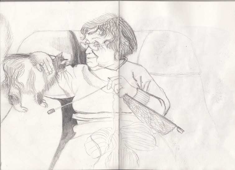 Cat lady sketch