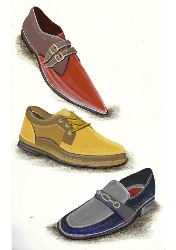 Gouache shoes