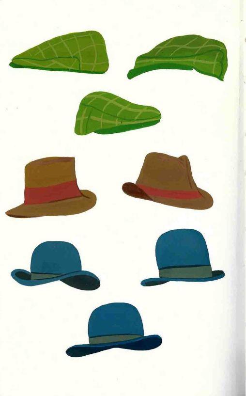 Gouache hats
