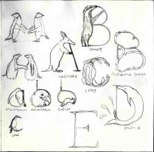 Animal alphabet sketches