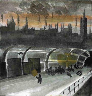 London rough watercolour