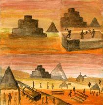 Egypt rough watercolour