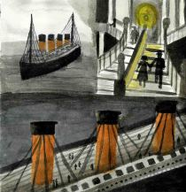 Titanic rough watercolour