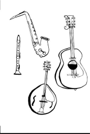Instruments, ink on paper
