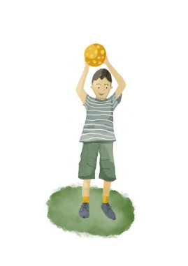 Boy with ball 2