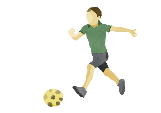 WIP boy kicking ball