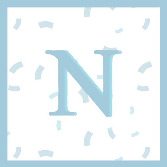 n blue