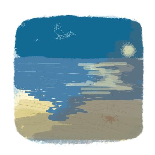 beach - 5 min sketch